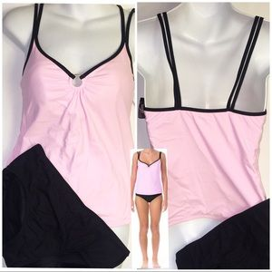 Pink &  black tankini swim suit 12